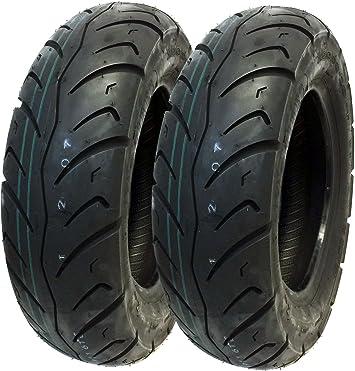 Amazon.com: Neumático Set: frontal 120/90 – 10 – 130/90 – 10 ...