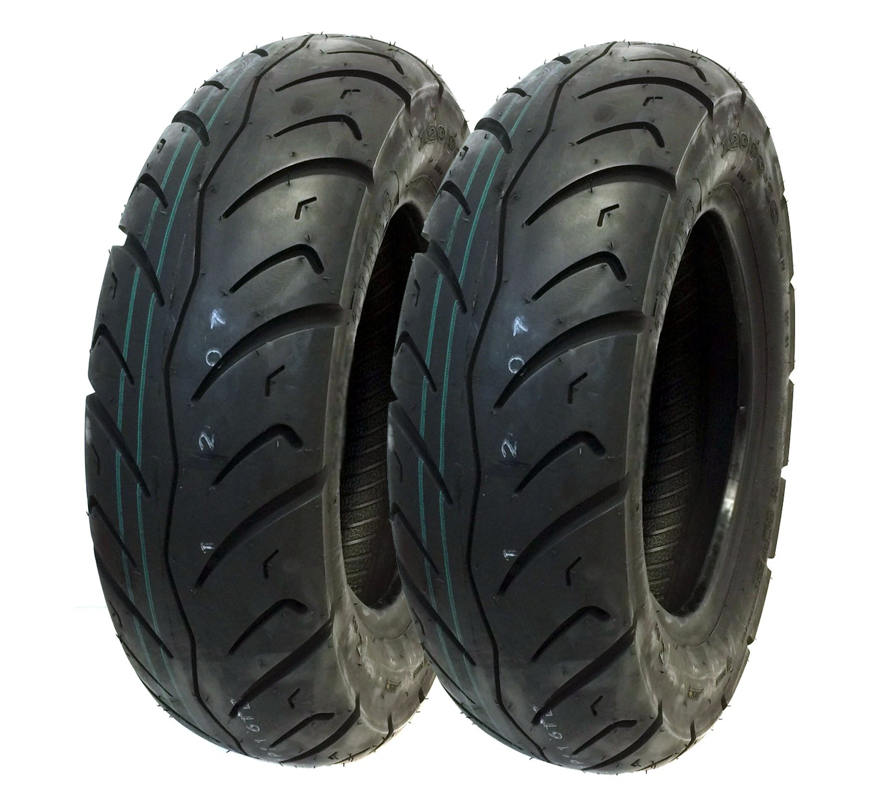 MMG Tire Set Front 120/90-10 Rear 130/90-10 Scooter Tire Tread Pattern Designed for Street Performance (P116) by MMG