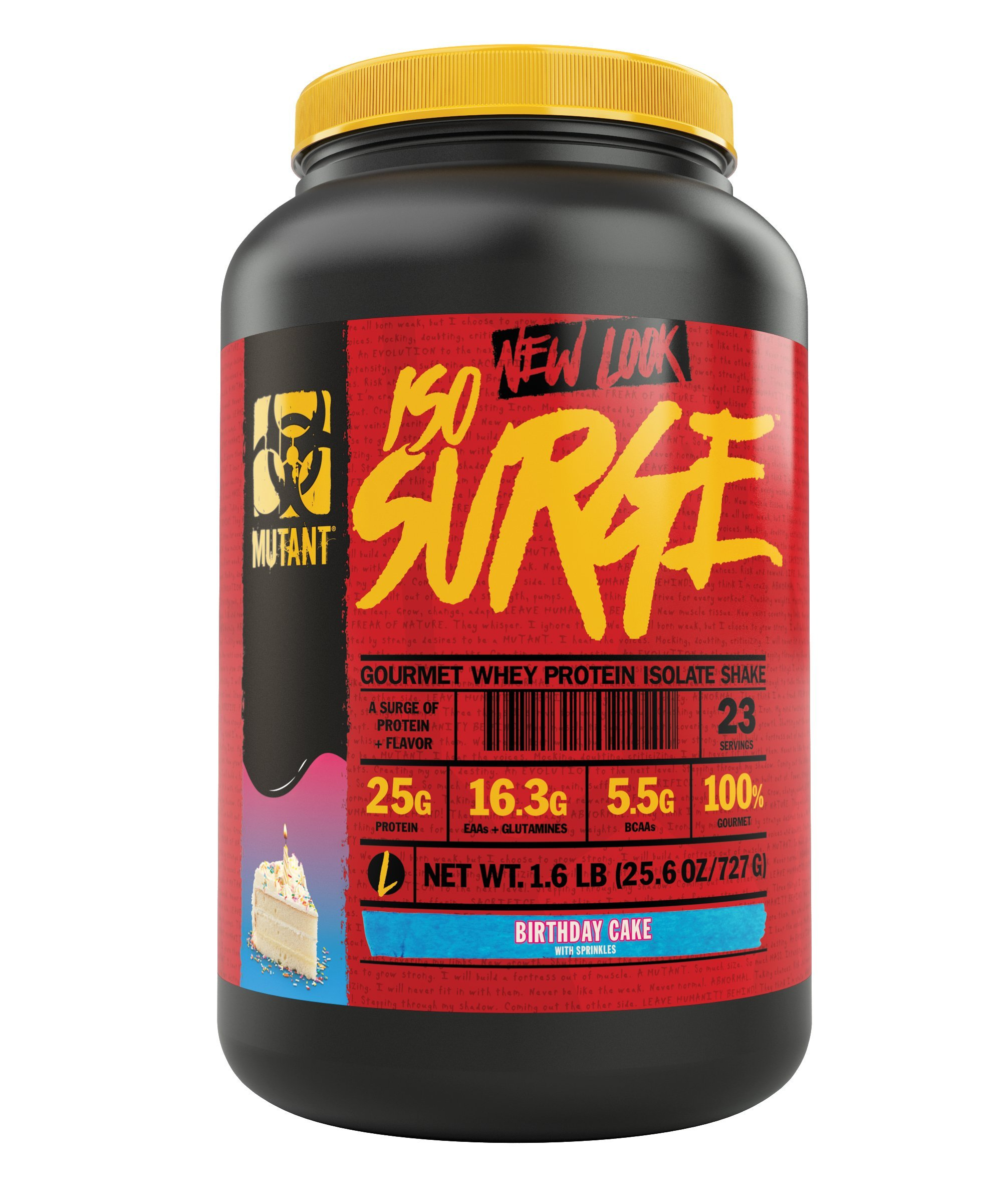 Mutant ISO Surge Whey Protein Powder Acts FAST to Help Recover, Build Muscle, Bulk and Strength, Uses Only High Quality Ingredients, 1.6 lb - Birthday Cake by Mutant