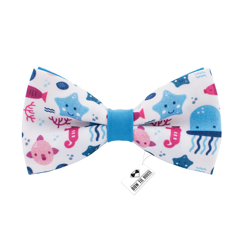 Bow Tie House Jellyfish ocean pattern bow tie unisex pre-tied shape 09284