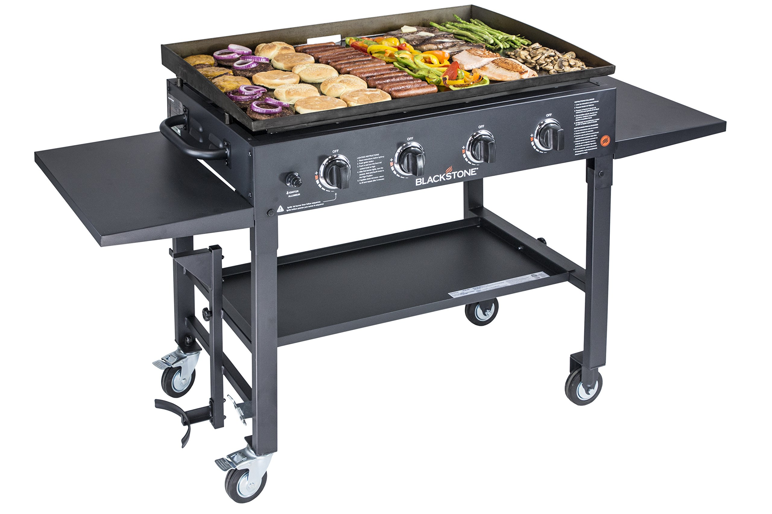 Blackstone 36 inch Outdoor Flat Top Gas Grill Griddle Station - 4-burner - Propane Fueled - Restaurant Grade - Professional Quality