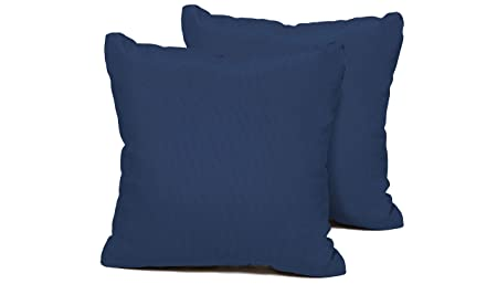 TK Classics PILLOW-NAVY-S-2x Outdoor Square Throw Pillows, Set of 2, Navy