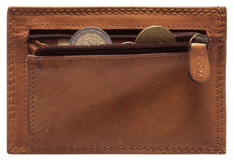 f7cfd3249f3 Hill Burry en cuir véritable Carte de Crédit Portefeuille