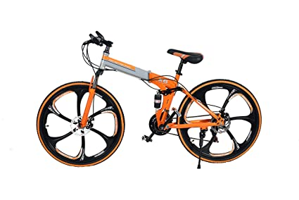 d9f3982c15e R Cycles Foldable Adventure Sports MTB Cycle with 21 Derailleurs (Orange)
