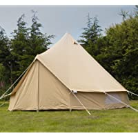 Andes 3m 100% Cotton Canvas Bell Tent With Heavy Duty Sewn In Groundsheet, Camping, Glamping, Festival, Luxury Teepee