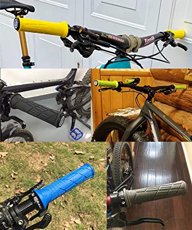 Pu/ños de Bicicleta pu/ños de Motocicleta Antideslizantes Pu/ños de Manillar de Bicicleta para Accesorios de Bicicleta de monta/ña MTB