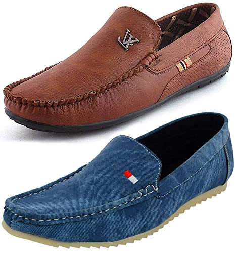 bd485686dd3 Maddy Combo Pack of 2 Loafer Shoes for Men in Various Sizes (7)  Buy Online  at Low Prices in India - Amazon.in