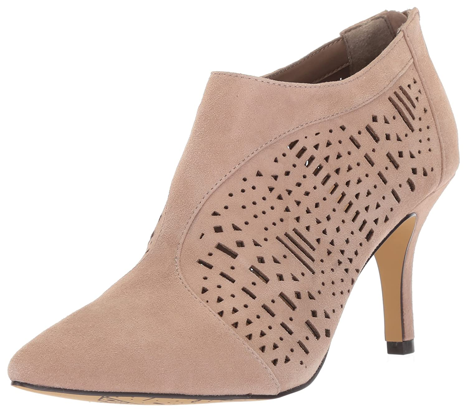 Bella Vita Women's Darlene Ankle Boot B0781VBZ88 11 2W US|Almond Kid Suede