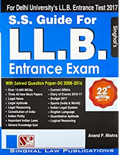 S. S guide for l. L. B entrance exam: buy s. S guide for l. L. B.