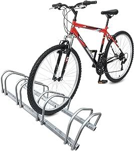 Soporte para bicicletas Soporte para bicicletas Soporte para bicicletas Aparcamiento para bicicletas Estacionamiento en el piso de la bicicleta Ajustable 3/4/5 Soporte para ruedas Interior exterior: Amazon.es: Bricolaje y herramientas