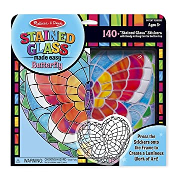 Melissa /& Doug Stained Glass Made Easy Activity Kit: Butterfly - 140+ Stickers Melissa and Doug 19295