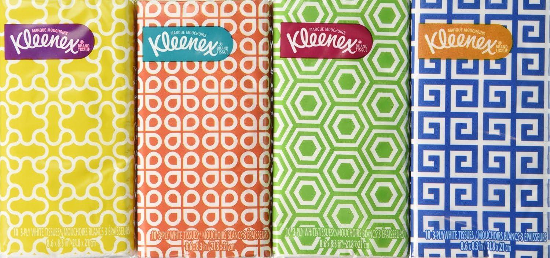White Facial Tissue Kleenex Pocket Pack