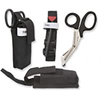 One Hand CAT Tourniquet Combat Application First Aid + Trauma Shear+ Molle Pouch - Ideal First Responder, EMT…