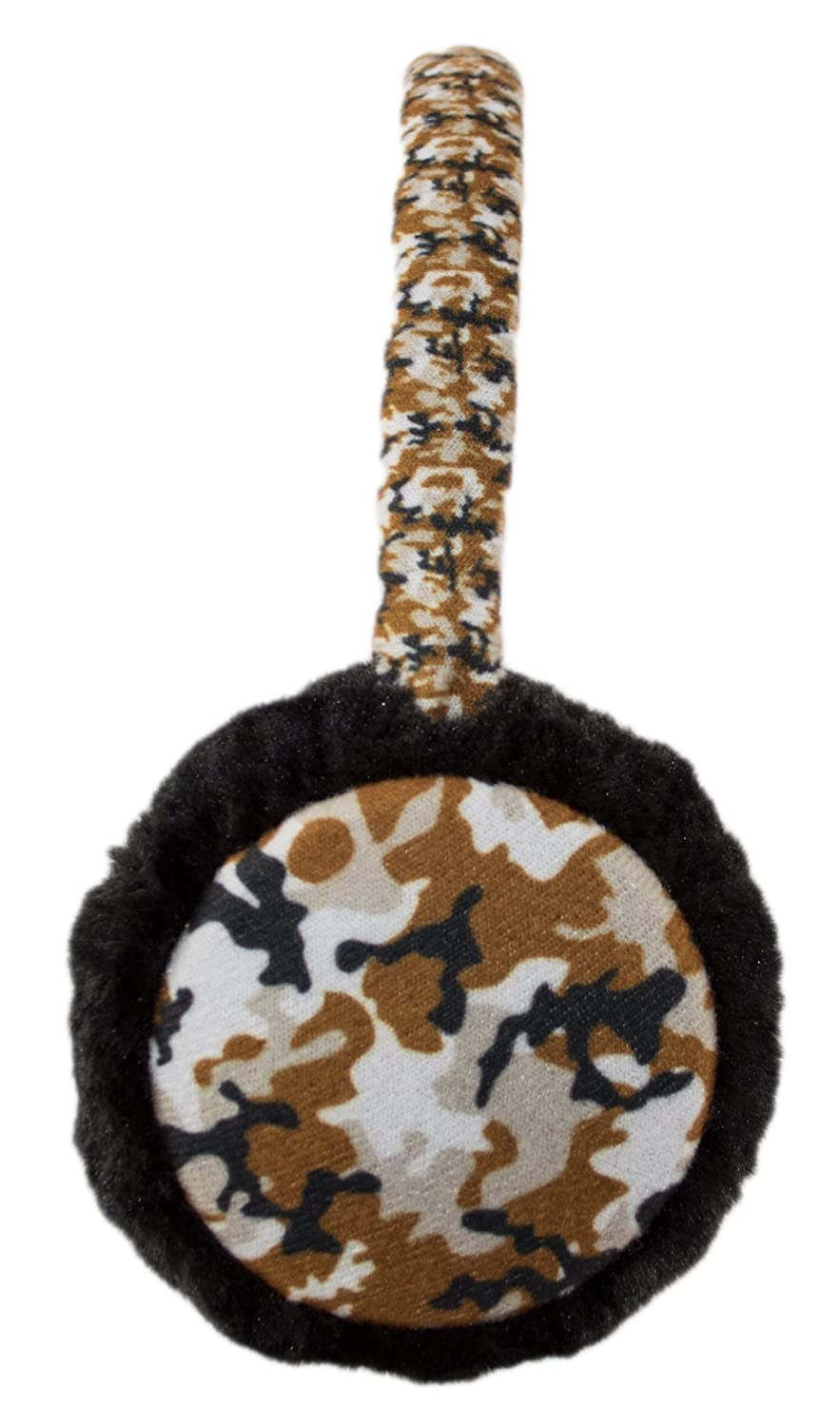 Cool Adjustable Fuzzy Ear Muffs Kids, Winter Camo Earmuffs Warmer for Boys Winter Camo Earmuffs Warmer for Boys -  Brown