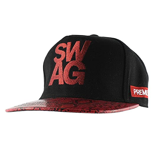 ce580713155 Image Unavailable. Image not available for. Color  Morehats SWAG Snake Brim Snapback  Trucker Baseball Cap ...