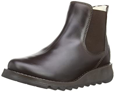 Fly London Sien Warm, Bottes Chelsea Femme, Noir (Black), 40 EU