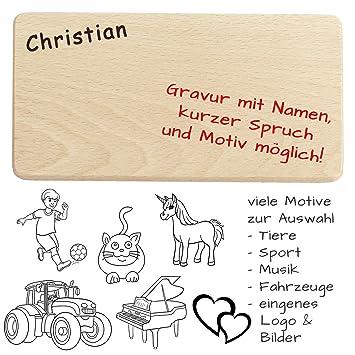 Attirant Frühstücksbrettchen / Brotzeitbrettchen Mit Name, Spruch, Motiv, Logo Oder  Comic   Hochwertige Gravur