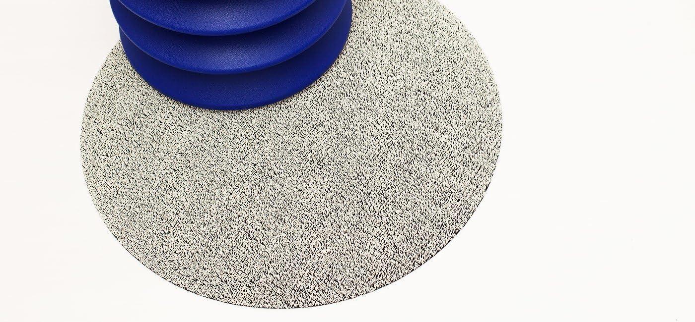 Chilewich Dot Shag Indoor Outdoor Round Floor Mat White 24