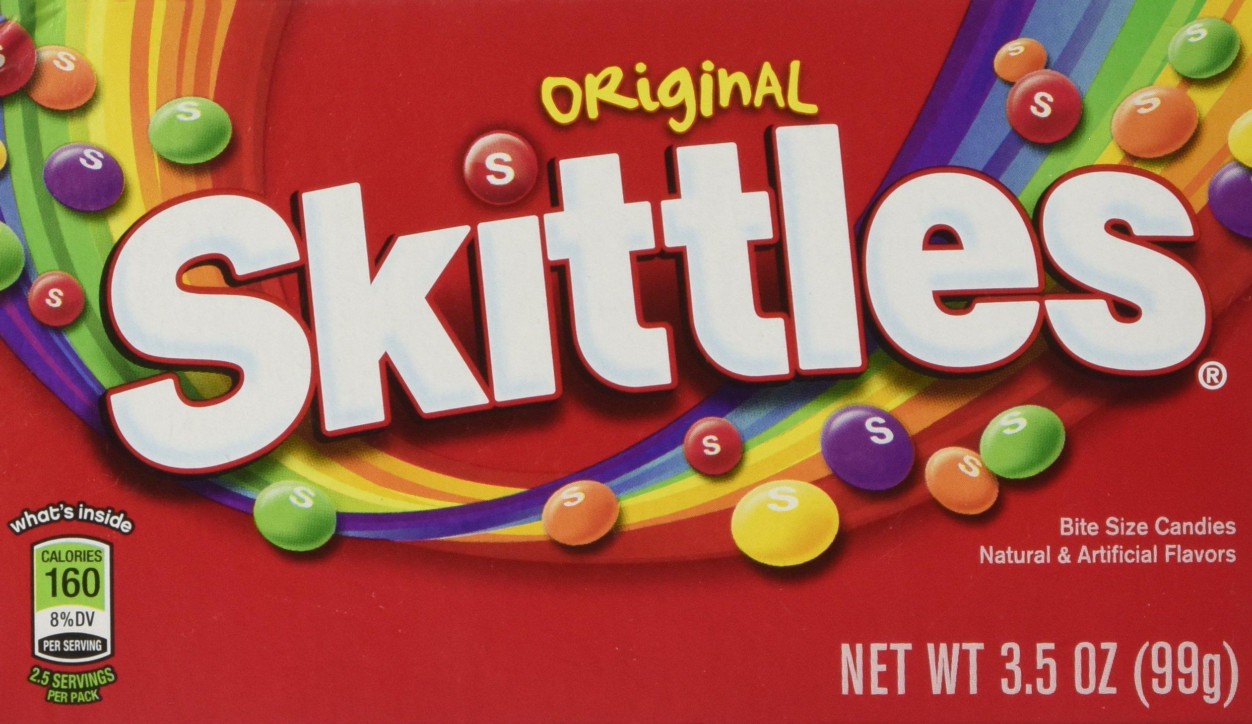 Skittles Original Bite Size Candies: 12 Packs of 3.5 Oz