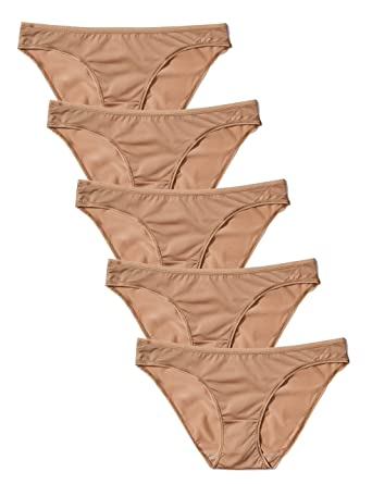 1f6c35ef8fac Iris & Lilly Women's Bikini Brief in Soft No VPL, Pack of 5: Amazon ...