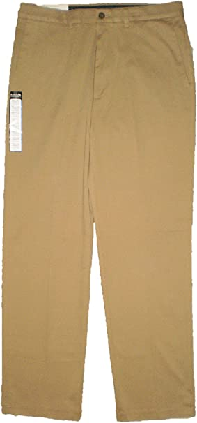 Men/'s Haggar Expandomatic Stretch Classic-Fit Comfort Waist Twill Pants Khaki