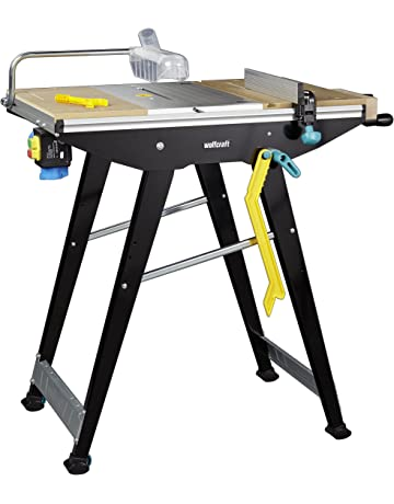 Mesa de sierra y estación de trabajo Wolfcraft 6906506 Master Cut 1500, color negro