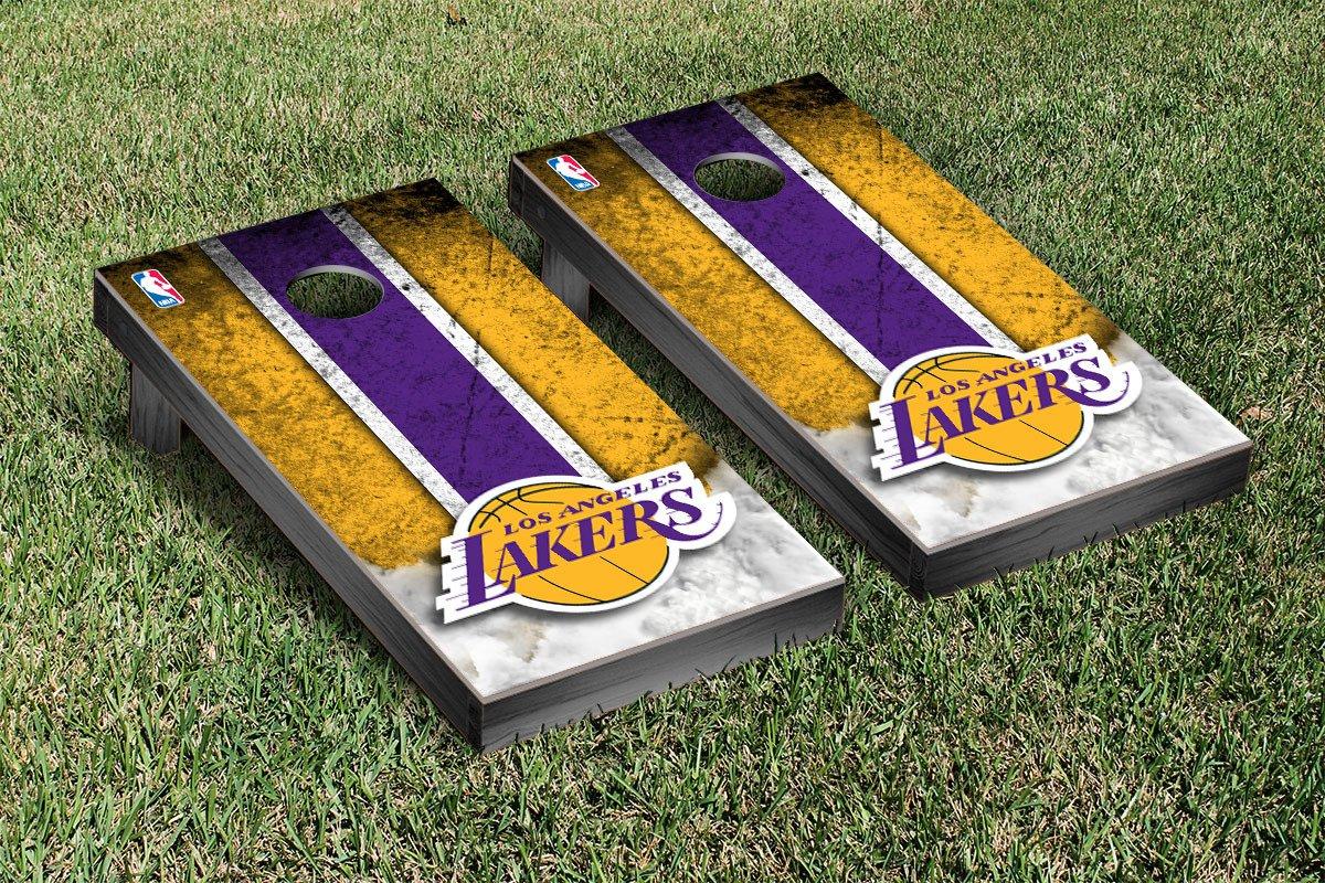 Los Angeles LA Lakers NBA Basketball Cornhole Game Set Vintage Version