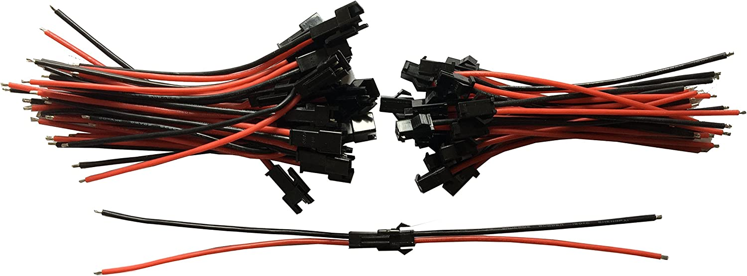24 Pair 100mm JST Connectors plug 22awg silicone wire for RC