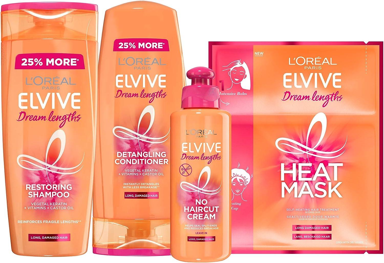 LOreal Elvive Dream Lengths - Champú de queratina para cabello ...