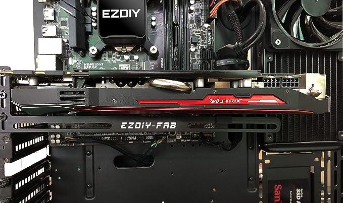 EZDIY-FAB Soporte de Tarjeta gráfica Un Soporte para Tarjeta de Video, GPU VGA Brace Sag, para Juegos Personalizados de PC de Escritorio. una Carcasa ...