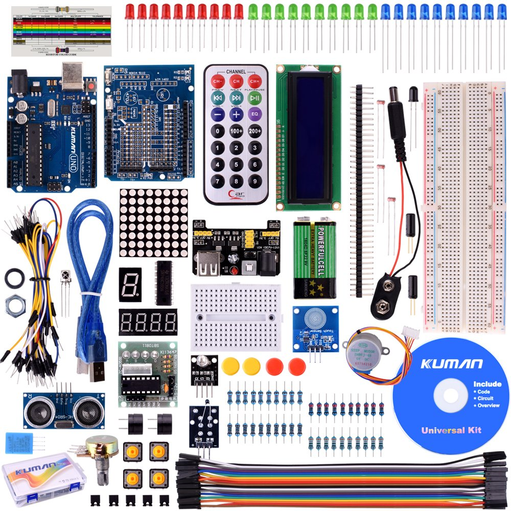 Kuman K4 Us For Arduino Project Complete Starter Kit Simple Circuit Drives Manages Laser Diode39s Output Analog Content With Detailed Tutorial And Reliable Components Uno R3 Mega 2560 Robot Nano Breadboard