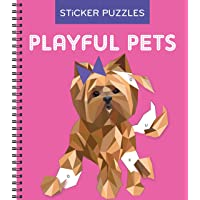 Sticker Puzzles: Playful Pets (Brain Games - Sticker by Letter)