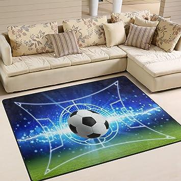 Amazon De Use7 Fussball Teppich Fur Wohnzimmer Schlafzimmer
