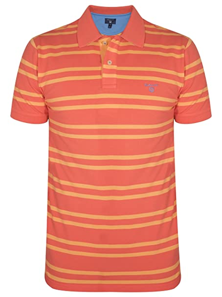 Gant Coral Striped Polo Shirt Small: Amazon.es: Ropa y accesorios