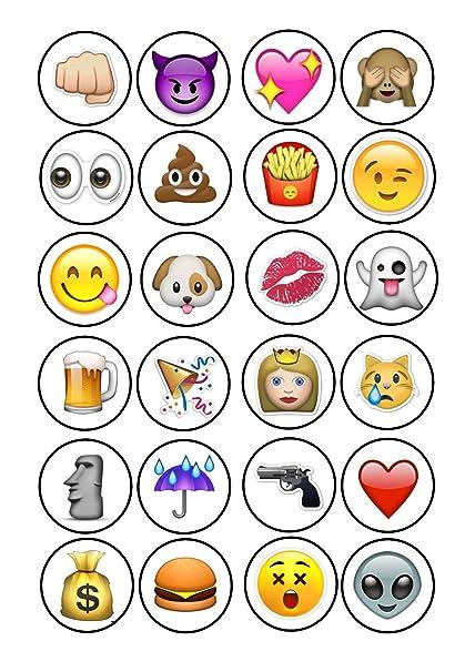 Decoración Para Tarta De 4 Cm Con Símbolos De Emoji Nd2