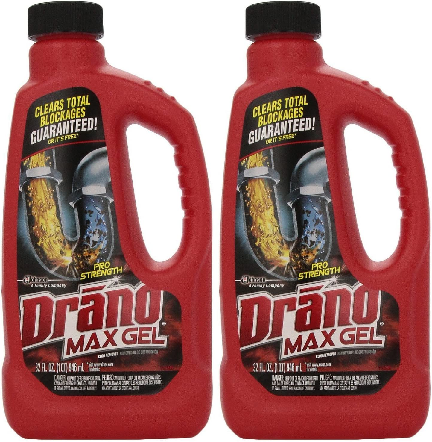 Drano Max Clog Remover Gel, 32 Ounce (Pack of 2): Health & Personal Care