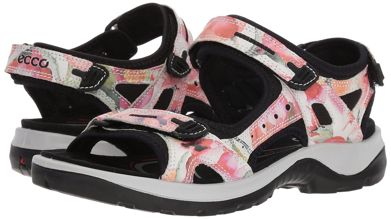 ECCO Women's Yucatan Sandal B074FD2XL4 40 EU/9-9.5 M US|White/Flower Print