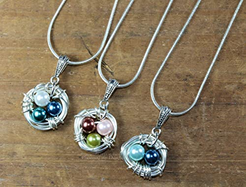 Bird Nest Necklace Grandmothers Necklace Bird Nest Pendant Wife Gift Mothers Day Gift Birthday Gift for Mom Nest Necklace Mom Gift