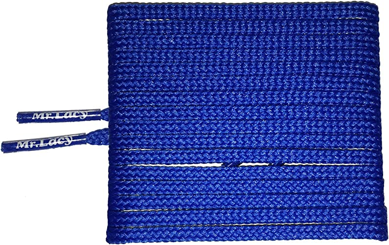 Royal Blue 4 mm Width Flat Waxed Laces