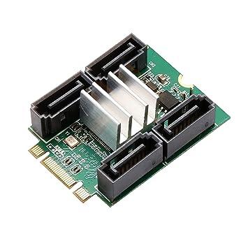 Amazon.com: SYBA – Tarjeta sd-ada40118 4 Port SATA III a M.2 ...