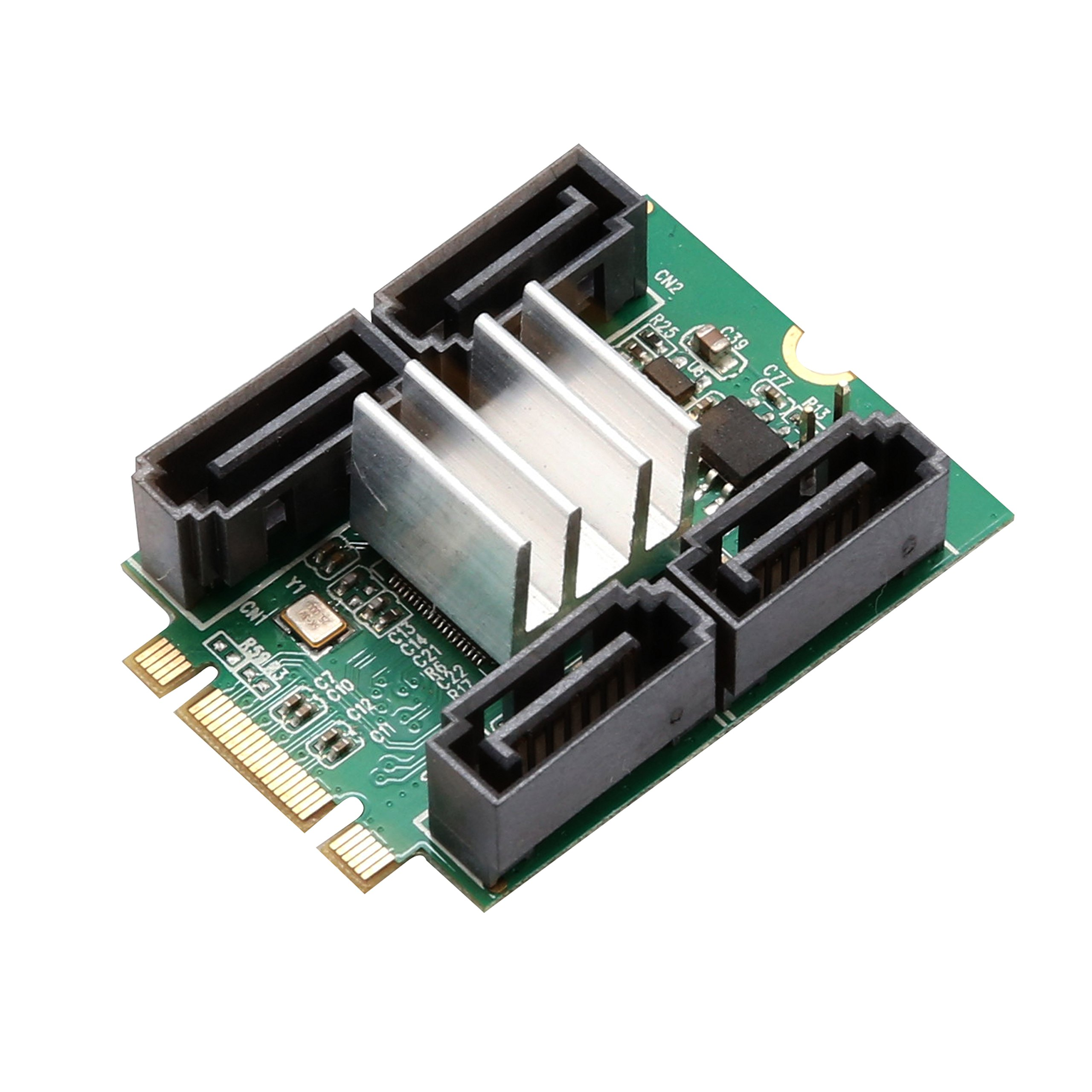 Syba 4 Port SATA III to M.2 M+B Key NGFF NVMe and SATA Socke
