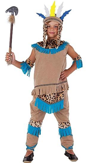Magicoo Indianer Wilder Westen Indianer Kostum Kinder Beige Blau