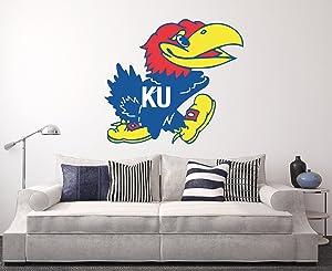 West Mountain Kansas Jayhawks Wall Decal Home Decor Art NCAA Team Sticker