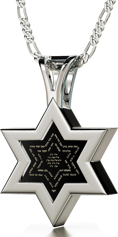 Collar con estrella de ónice y Ana Bekoach en oro 24ct - Joyería israelí