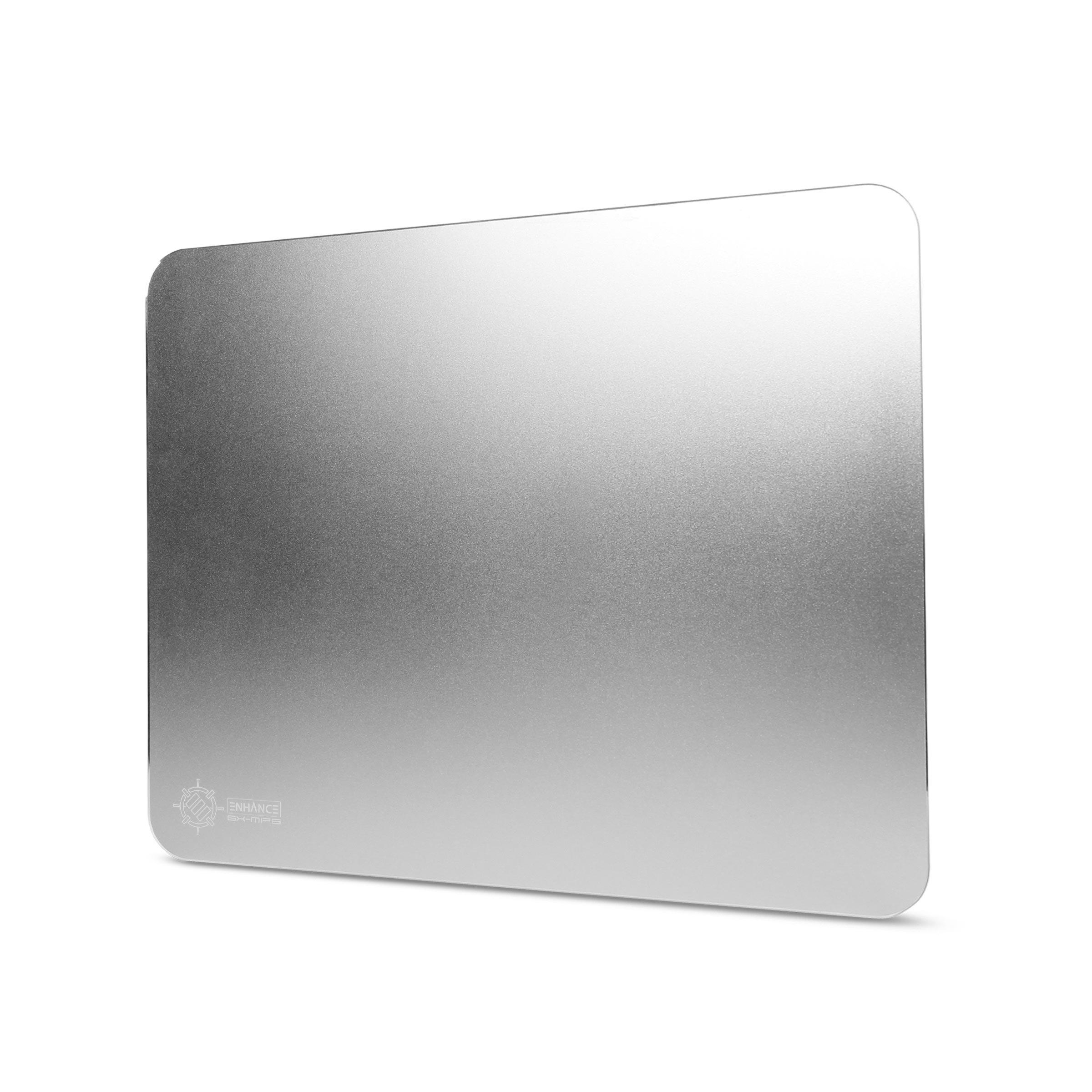 Aluminum Metal Gaming Mouse Pad XL by ENHANCE - Hard Mouse Surface , Non-Slip Rubber Base & High Accuracy Optimized Tracking - Brushed Metal Sleek Surface for Responsive Control