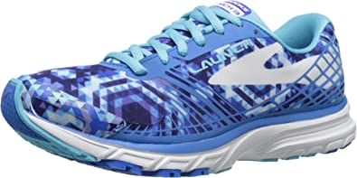 84a4691fffb Image Unavailable. Image not available for. Colour  Brooks Launch 3  Kaleidoscope Electric Blue Lemonade Bluefish White Women s Running Shoes