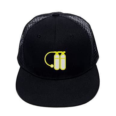 4438a237674 Trucker Hats Cheap Sports Dance Cap Embroidered Diving oxygen tank Mesh  Back Dad Hat For Men