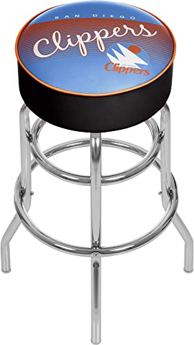 NBA San Diego Clippers Hardwood Classics Bar Stool, One Size, Chrome