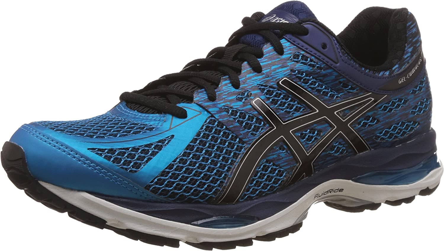 ASICS Mens Gel-Cumulus 17 Island Blue, Black and Indigo Blue Running Shoes - 8 UK/India (42.5 EU) (9 US): Amazon.es: Zapatos y complementos