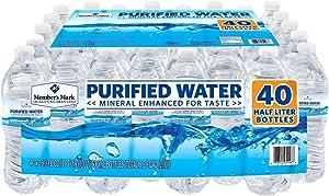Member's Mark 40 Piece Purified Bottled Water, 16.9 oz.